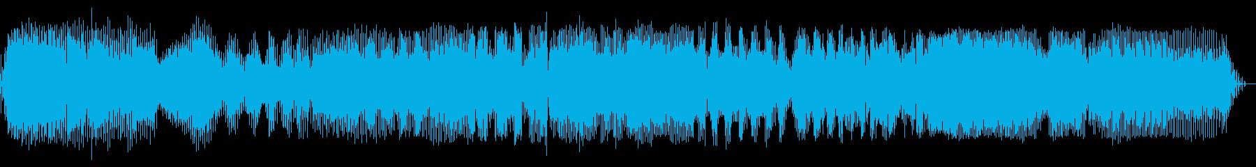 電気泡立て器:起動、さまざまな速度...の再生済みの波形