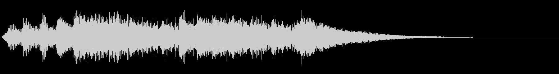 クラシカルなファンタジイメージのジングルの未再生の波形
