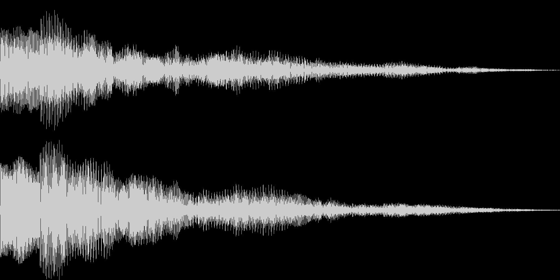 ぽぽーん シネマティック サウンドロゴの未再生の波形