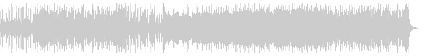 ファンキーでアップテンポなロックの未再生の波形