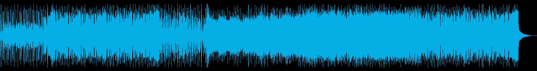 ファンキーでアップテンポなロックの再生済みの波形