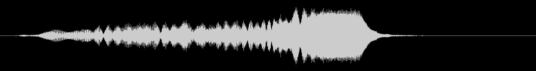 パンフルートの速い上昇 グリッサンドの未再生の波形