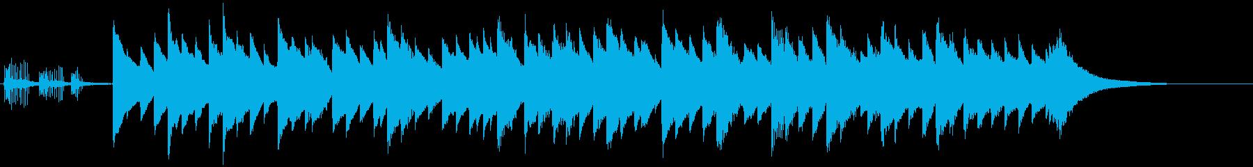 静かな午後に合うオルゴール曲の再生済みの波形