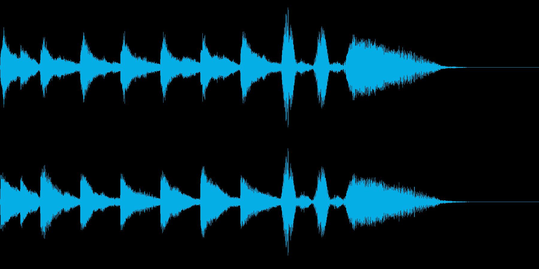 クリスマス・サウンドロゴ・ジングルの再生済みの波形