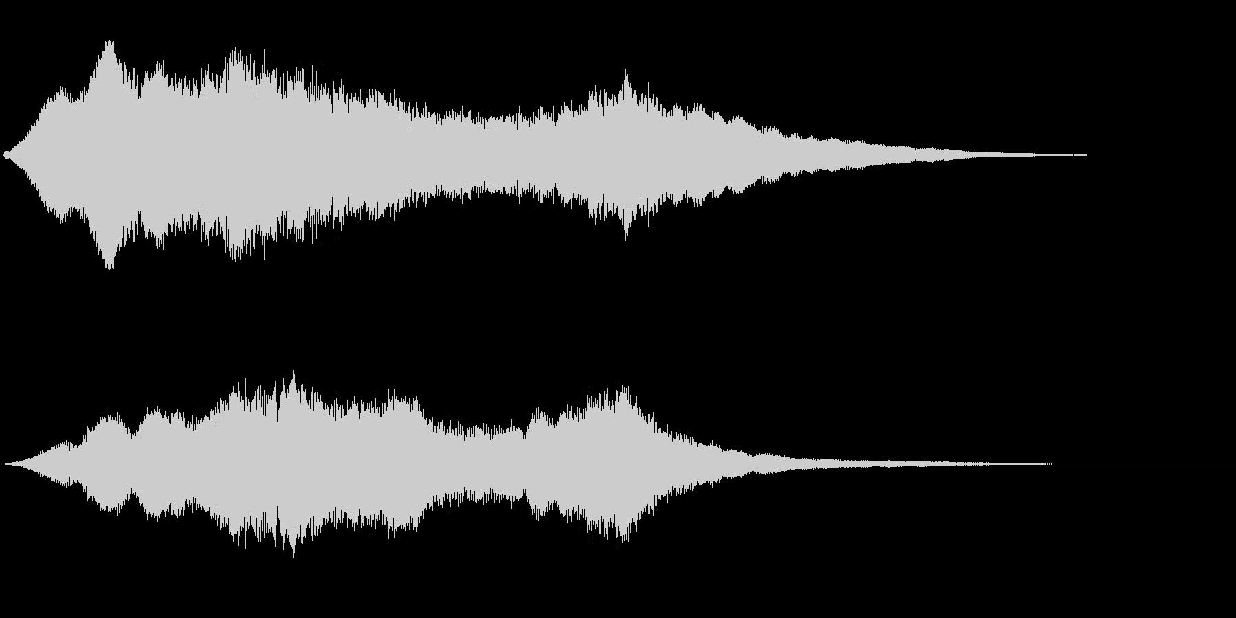 恐怖感のある金属的効果音の未再生の波形