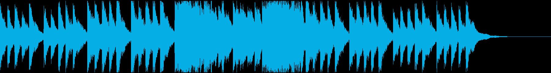 ピアノだけの淡々としたフレーズの再生済みの波形
