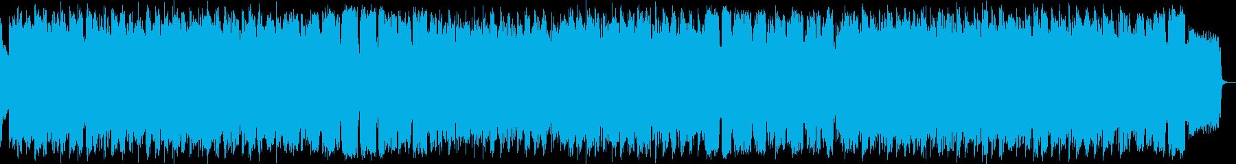 静かな水音と竹笛のヒーリングミュージックの再生済みの波形