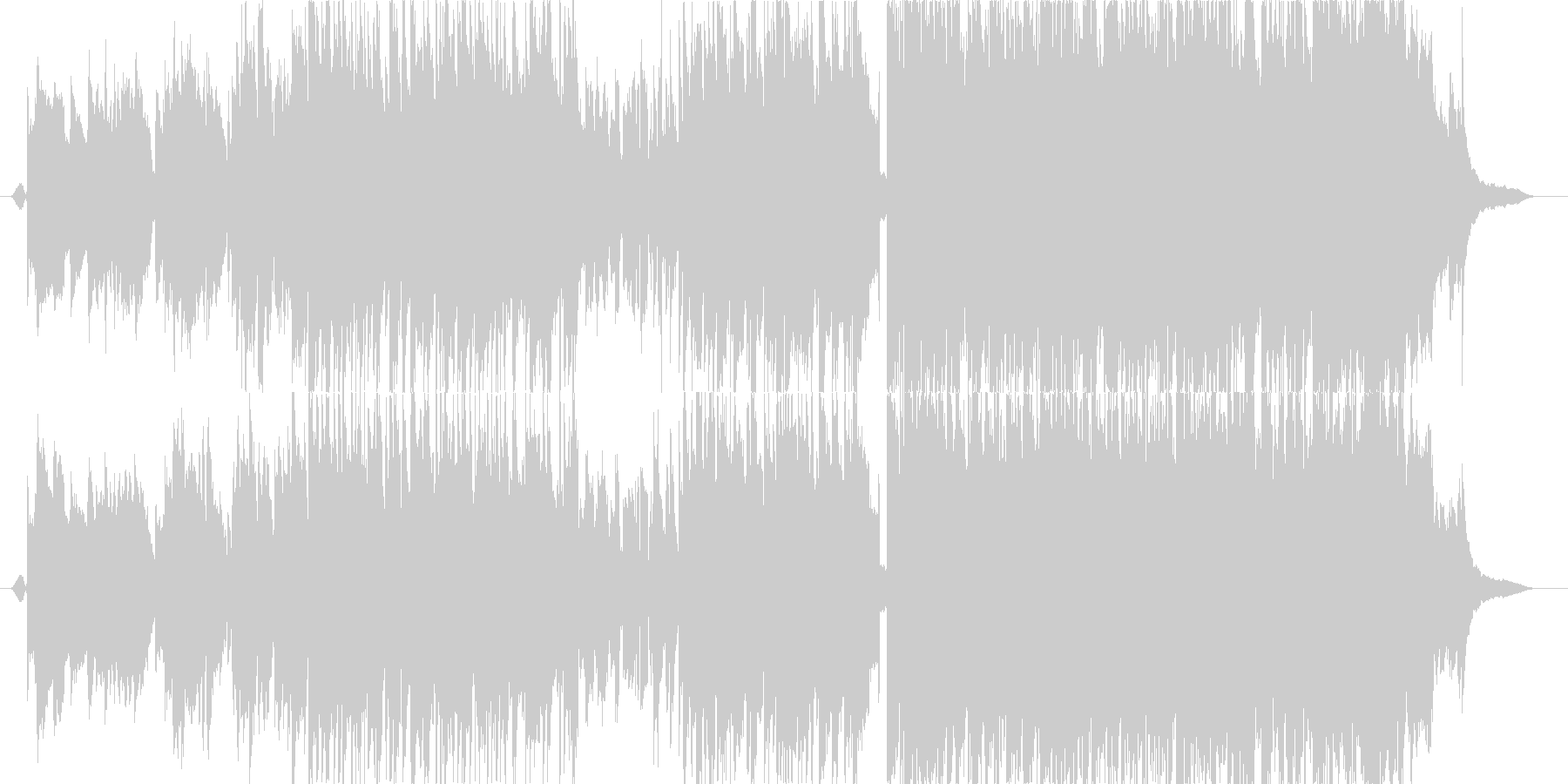 柔らかで歌声の優しいピアノポップスの未再生の波形