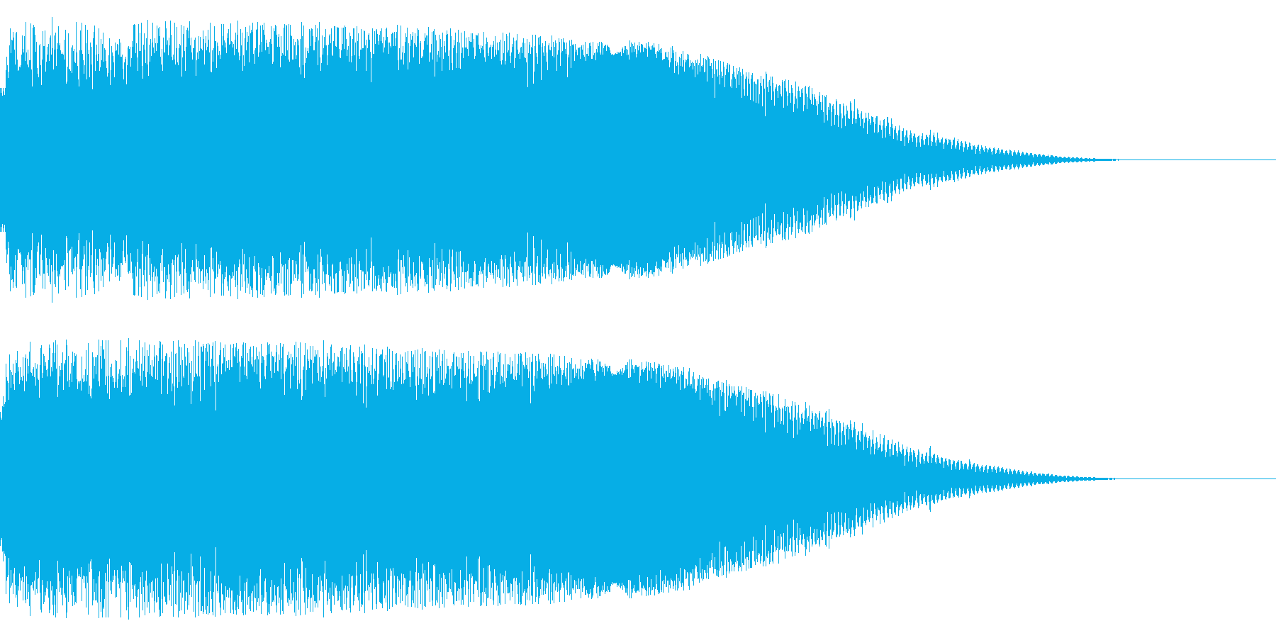 疾走感な効果音(ドカーン)の再生済みの波形