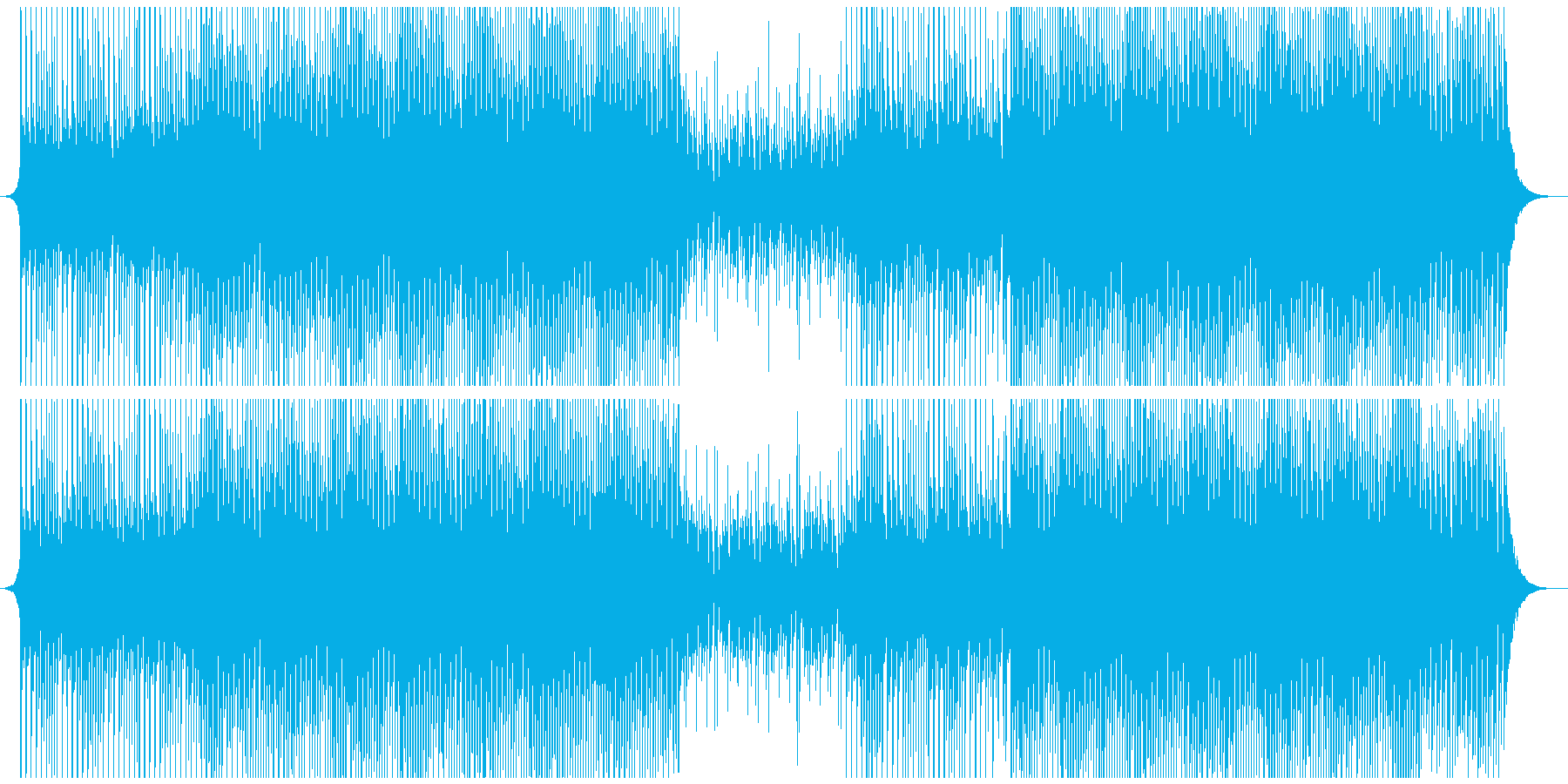 喜びの再生済みの波形