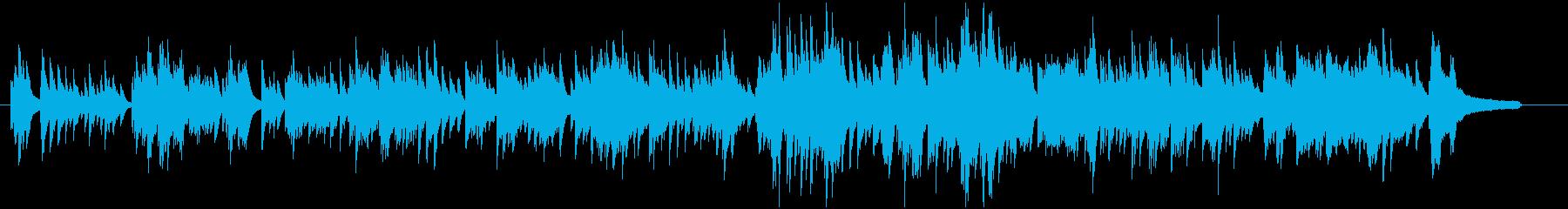 少ししっとりとした美しい感動的ピアノ曲の再生済みの波形