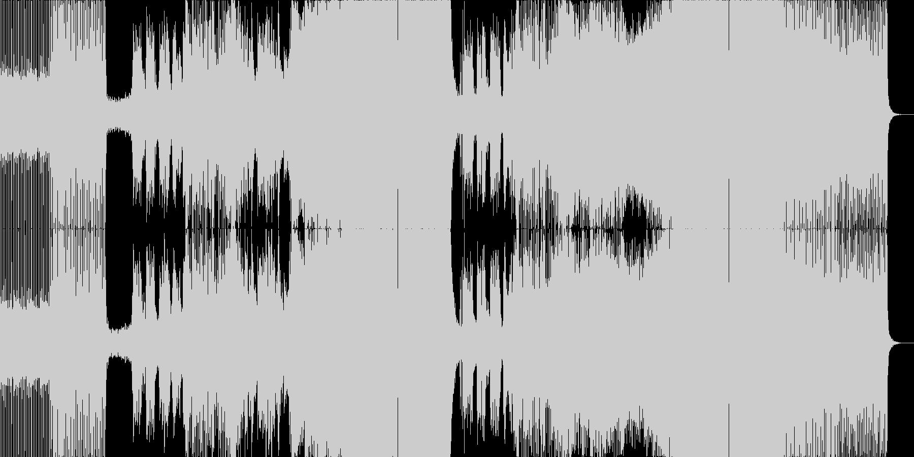 海外フェス系 ノリのいい定番EDM の未再生の波形