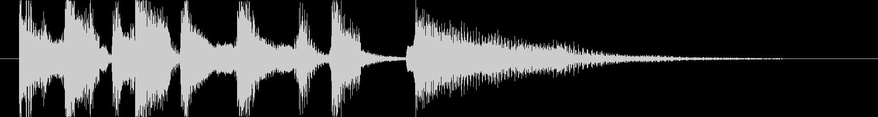 ロックオルガンのジングル(テンポ落ち)の未再生の波形