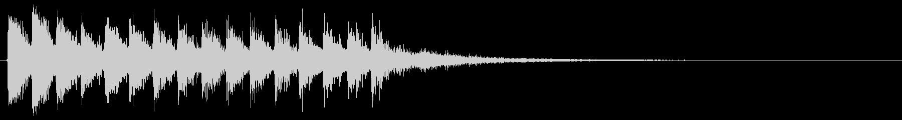 下降音 トゥルルル ↓ エネルギー切れの未再生の波形