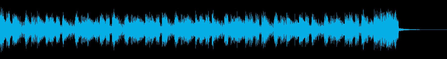 テクノ、シンプルなシーケンスのジングルの再生済みの波形