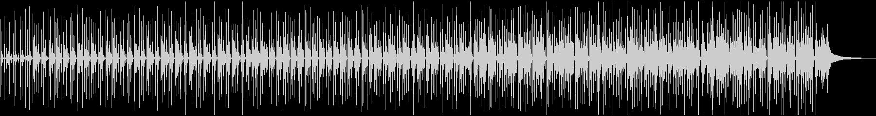 ピアノの音色が心地よいボサノバ曲の未再生の波形