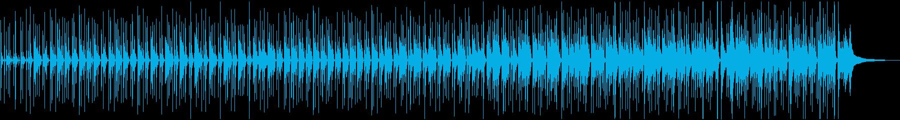 ピアノの音色が心地よいボサノバ曲の再生済みの波形