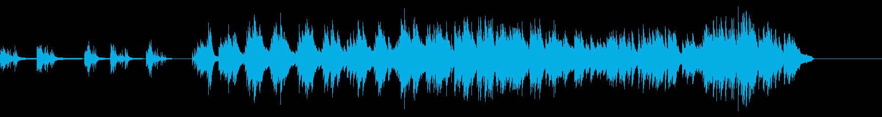 朝日が差し込むような爽やかなピアノBGMの再生済みの波形
