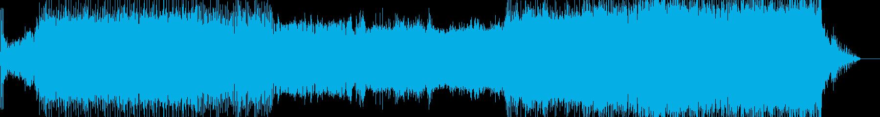 映像のためのテクノ風音楽ー機械の夢の再生済みの波形