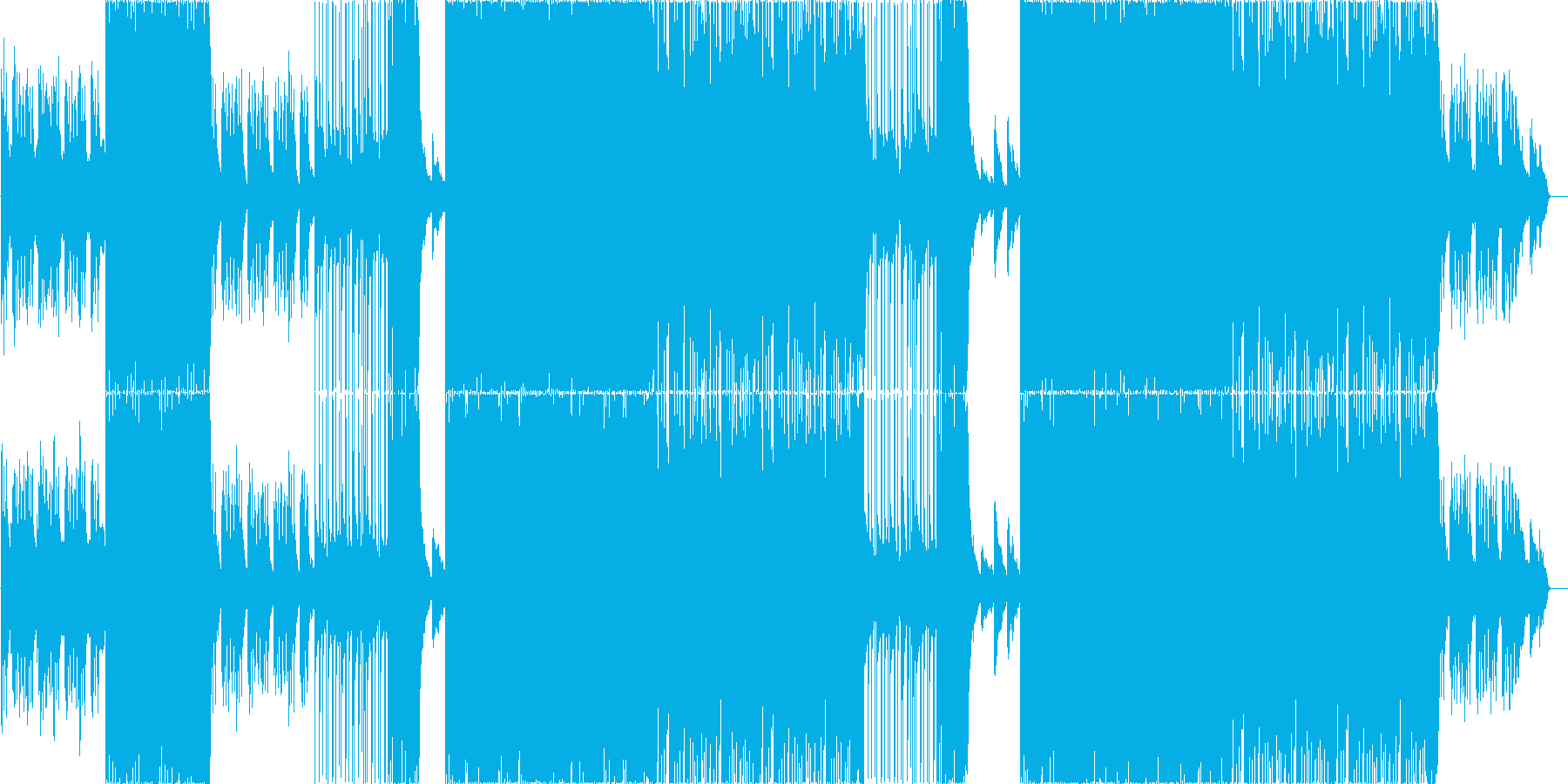 激しいメタルコアピアノバラードの再生済みの波形
