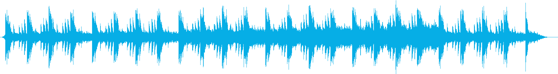 ミニマルなピアノ曲の再生済みの波形