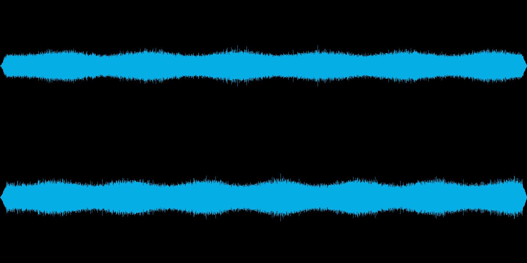 [ザー] 雨・滝・川などの音の再生済みの波形