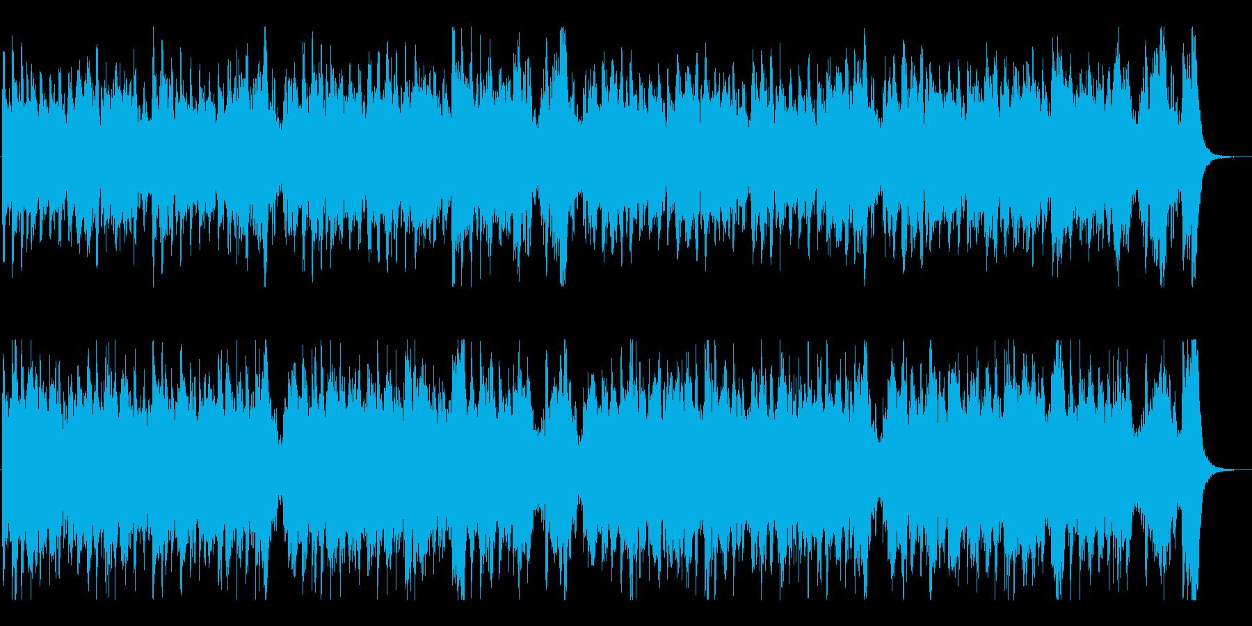 ディズニー風・吹奏楽マーチ曲の再生済みの波形