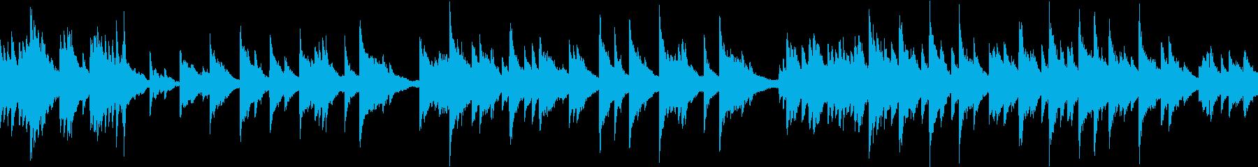 ヒーリング/ピアノ/ループの再生済みの波形