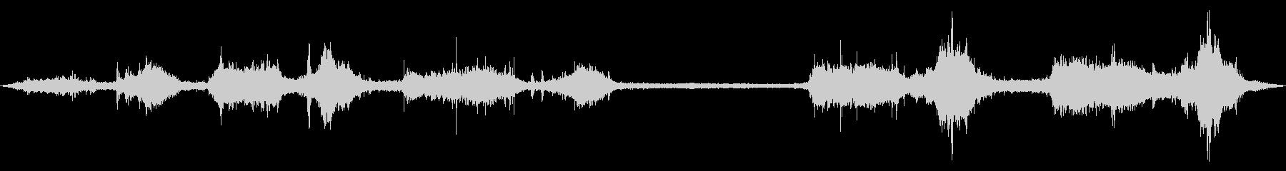 テトラポッド付近の波の音2の未再生の波形