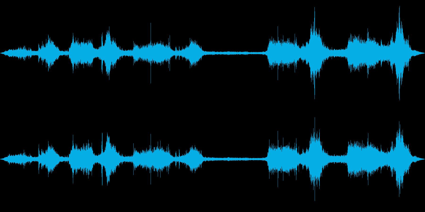 テトラポッド付近の波の音2の再生済みの波形