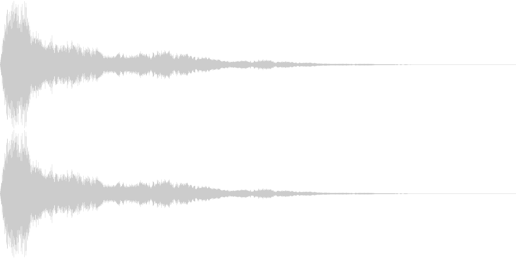 鈴をイメージしたアラーム音の未再生の波形