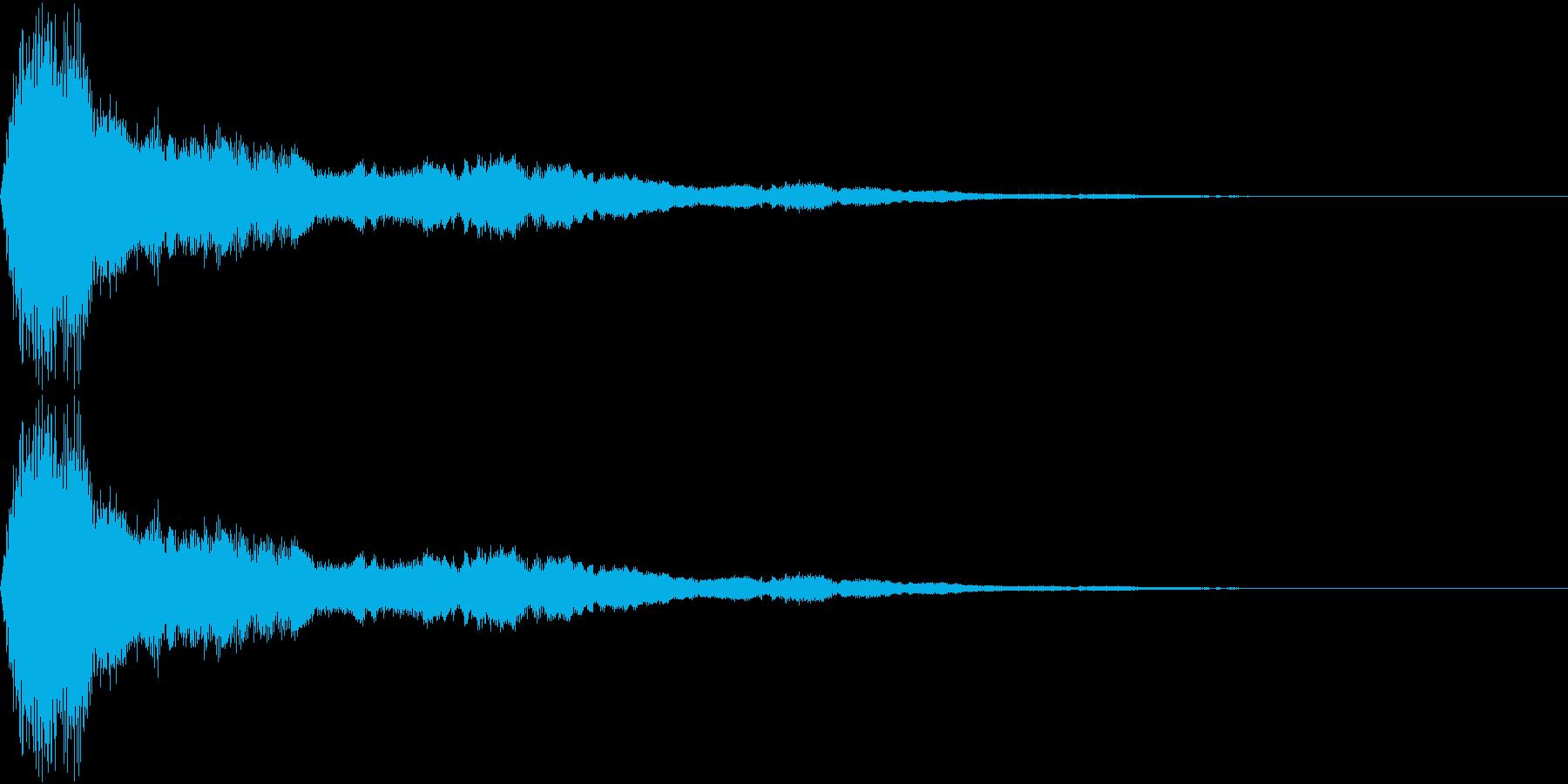 鈴をイメージしたアラーム音の再生済みの波形