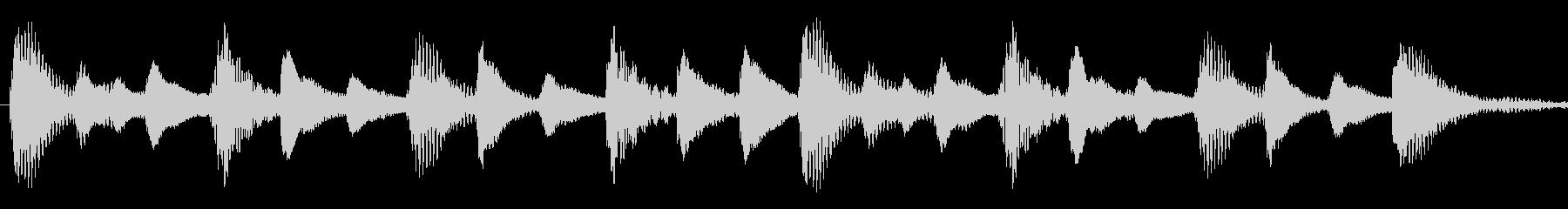 iPhone風マリンバ着信音の未再生の波形