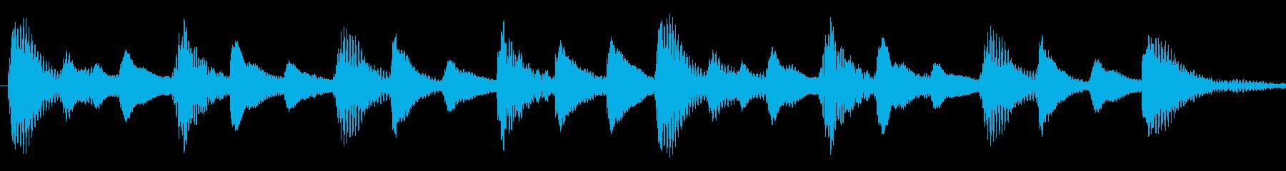 iPhone風マリンバ着信音の再生済みの波形