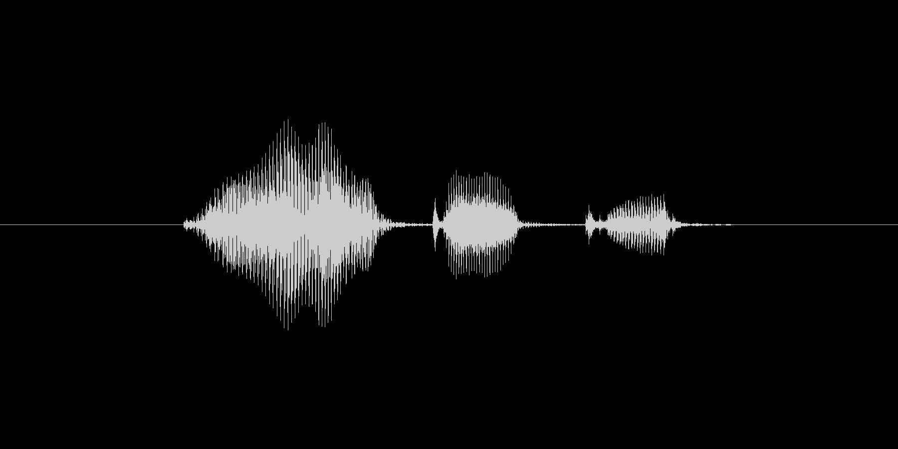 合格の未再生の波形