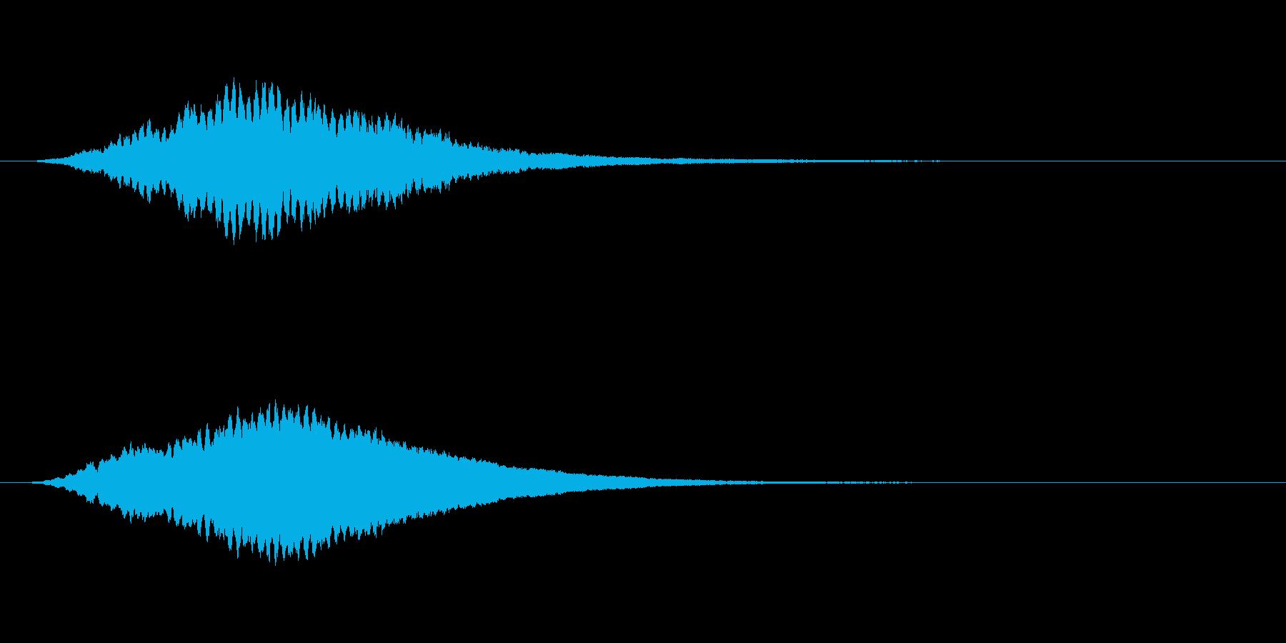 高シャープリンギングトーンスティンガーの再生済みの波形