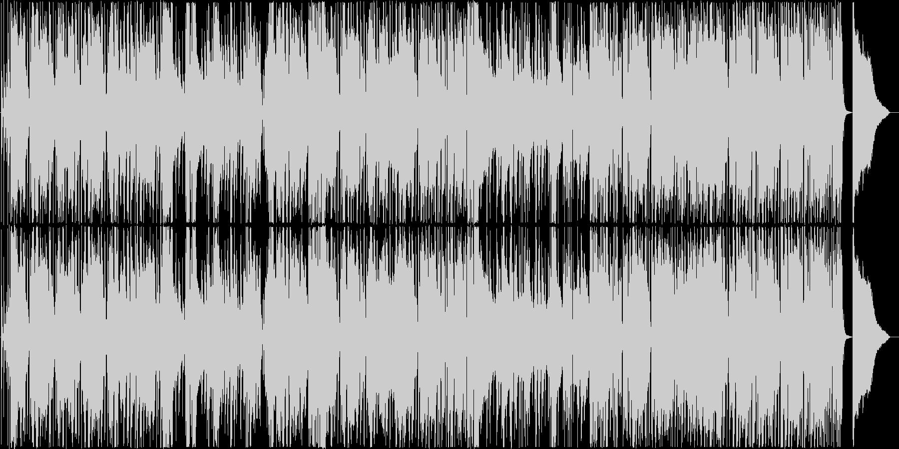 ジャジーなファンクナンバーの未再生の波形