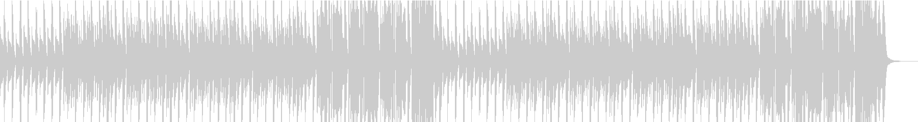 ほのぼのしてかわいいマリンバのBGMの未再生の波形