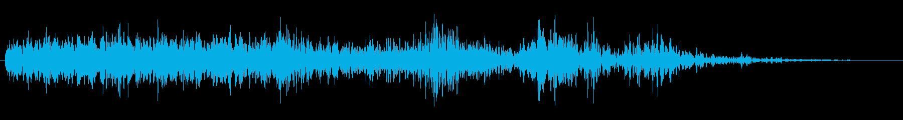 太陽爆発の再生済みの波形