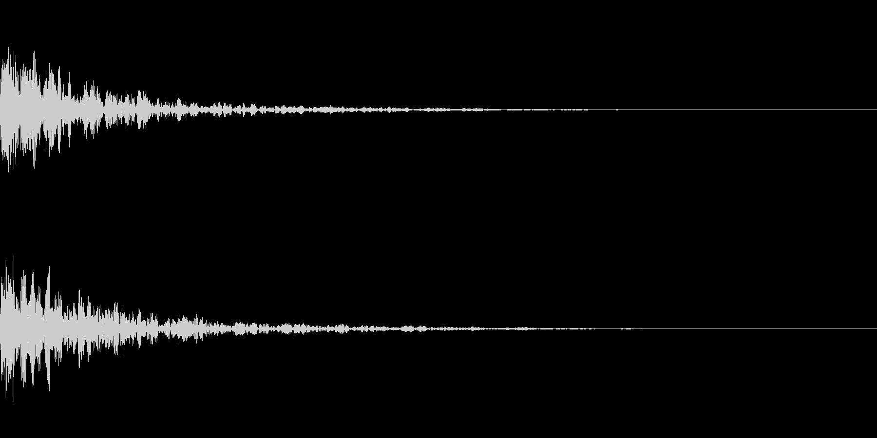 ドーン-28-1(インパクト音)の未再生の波形