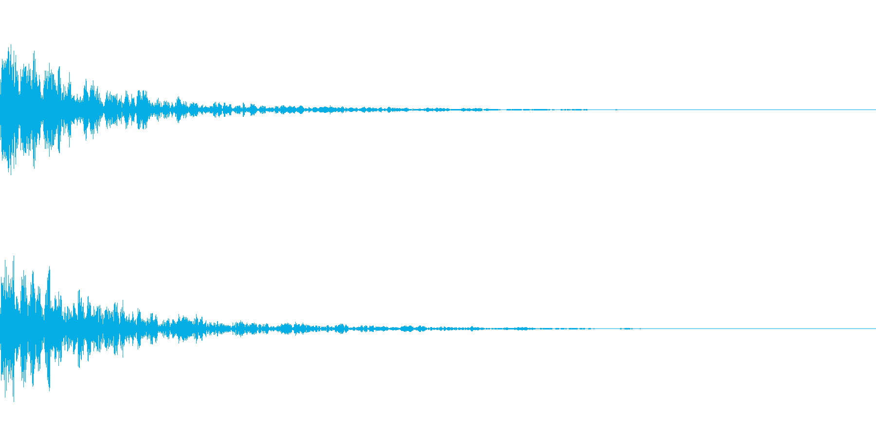 ドーン-28-1(インパクト音)の再生済みの波形