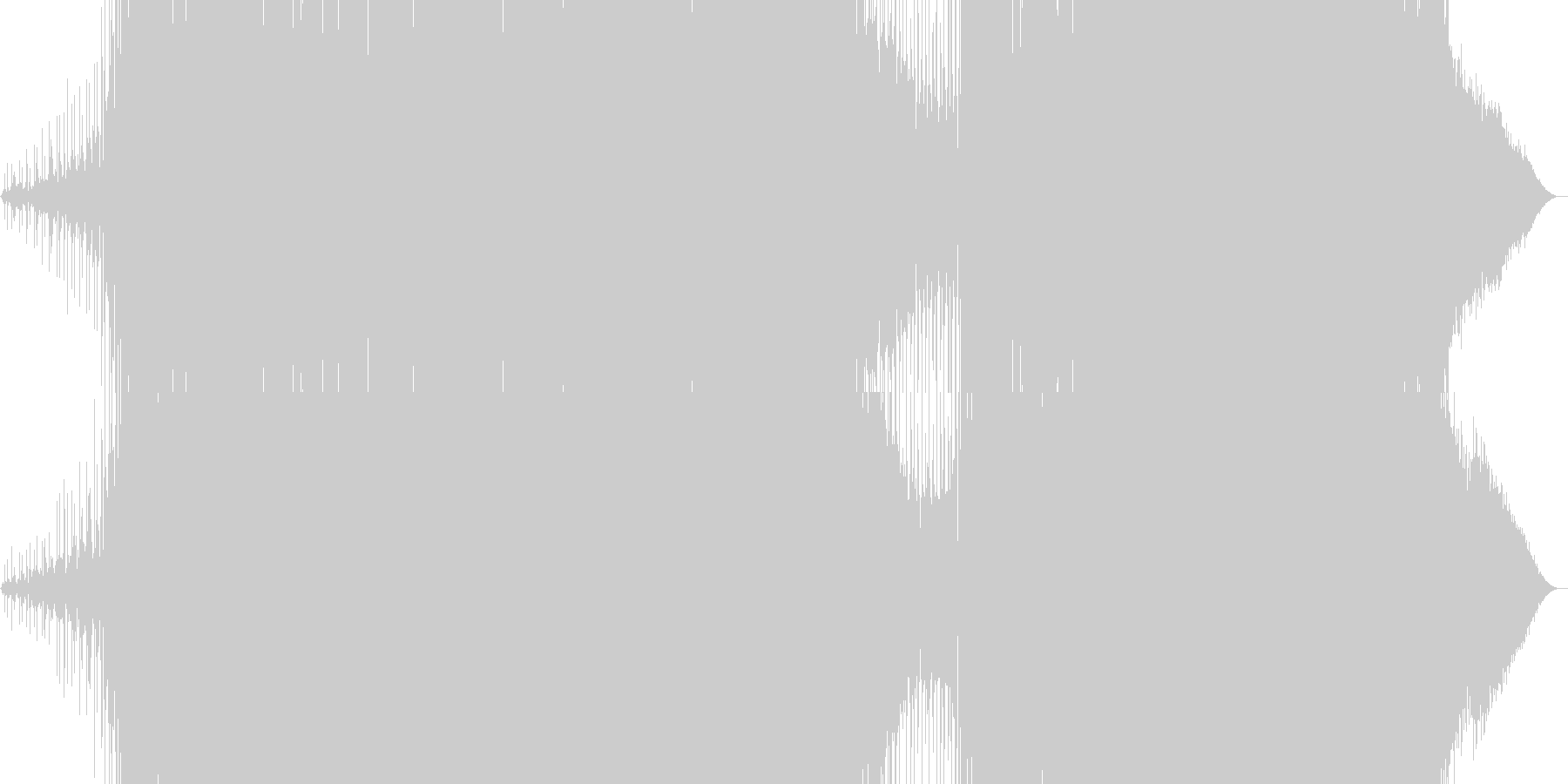 メロディックなEDMの未再生の波形