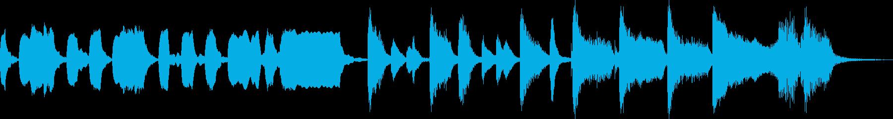 童謡「春が来た」のジャズ風アレンジの再生済みの波形