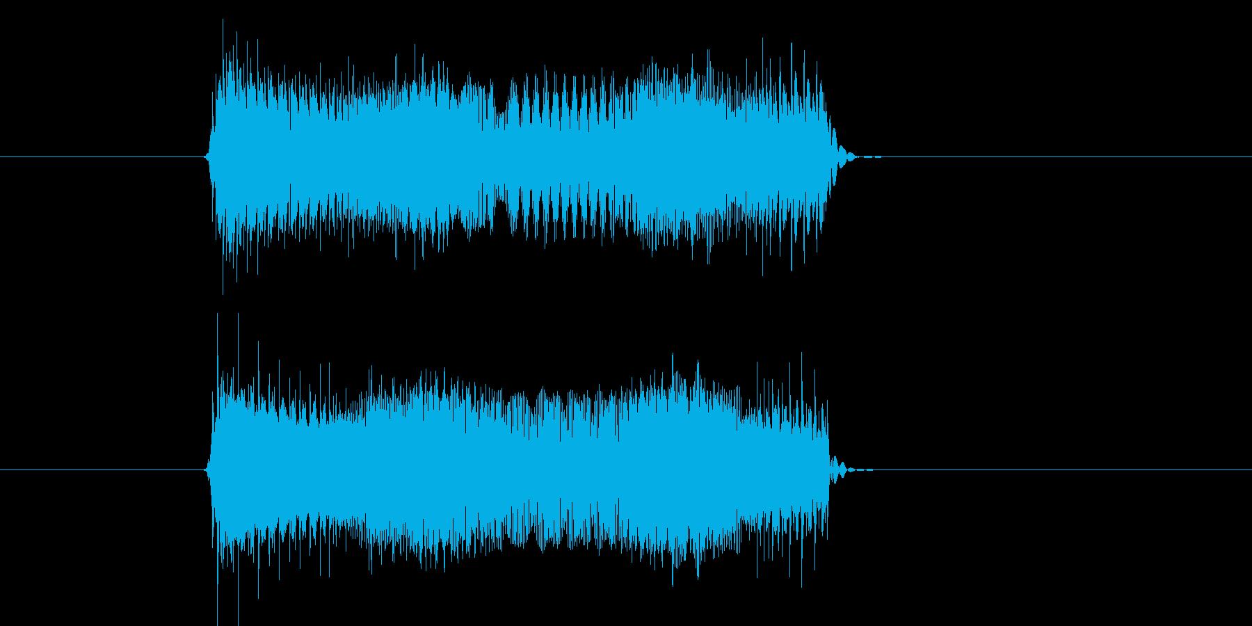 チューイーン(TV、雑音、VTR)の再生済みの波形