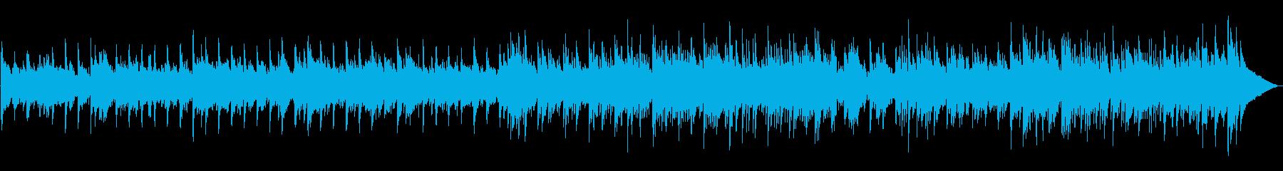 優しいカントリーポップ風ワルツの再生済みの波形