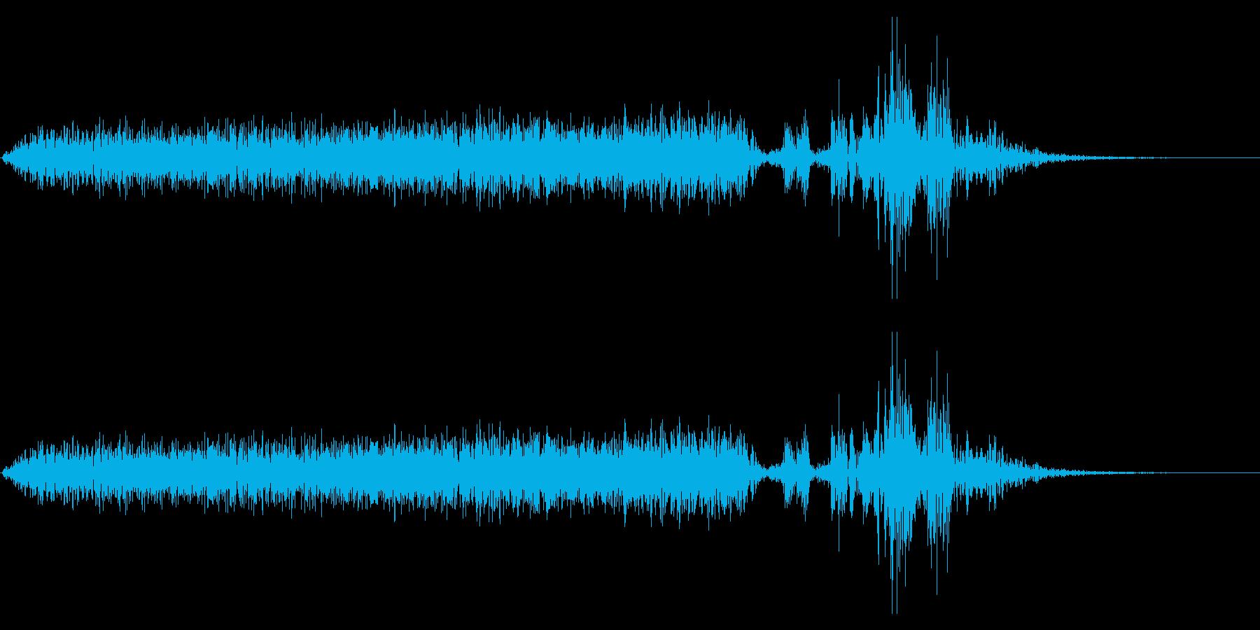 【生録音】本のページをめくる音 6の再生済みの波形