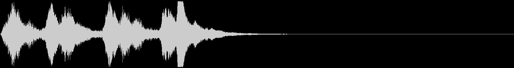ほのぼのとしたジングル:18の未再生の波形