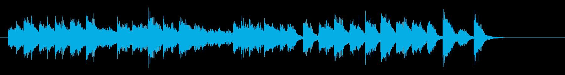 酒場で流れるおしゃれで軽快なピアノ曲2の再生済みの波形