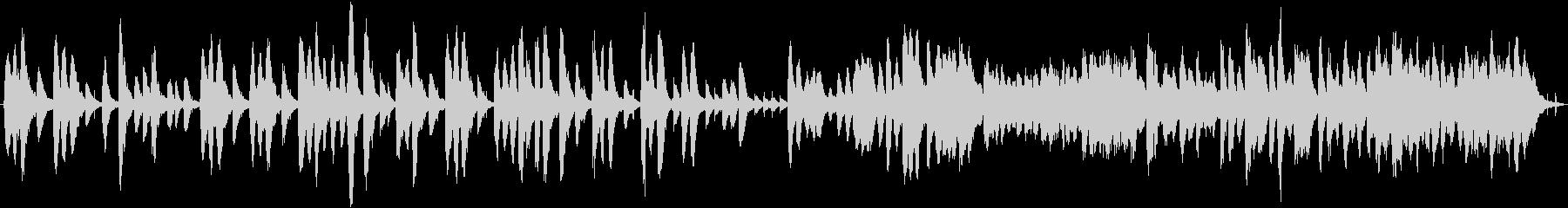 ほのぼの可愛らしい雰囲気のBGMの未再生の波形