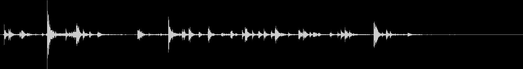 【生録音】ハンガーの音 1 カチャカチャの未再生の波形